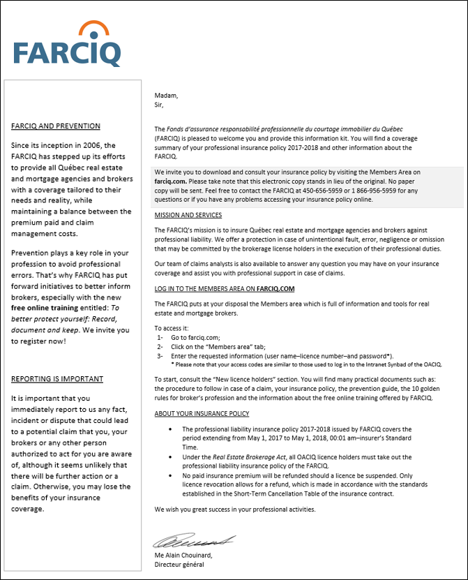 New broker - Farciq